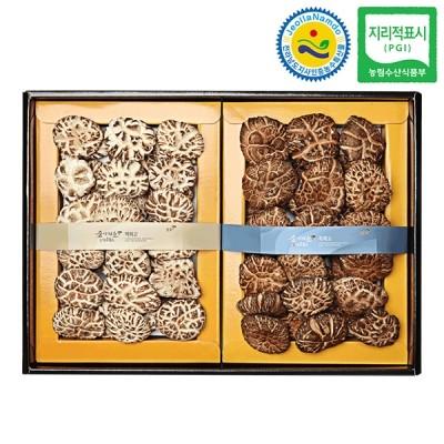 장흥표고 백화고 버섯선물세트 백화고혼합 1호 500g
