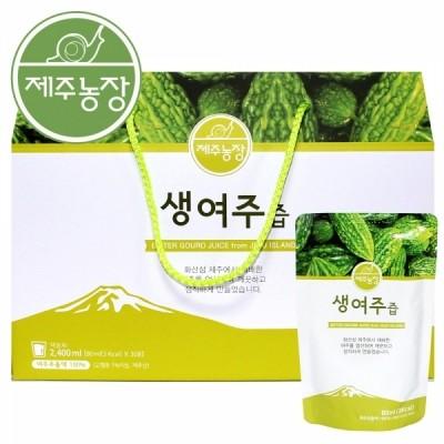 제주농장 제주 청정 생여주즙 80ml 30포/60포/90포/120포