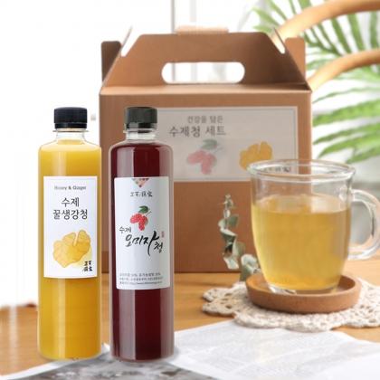 삼백 수제 꿀 생강청 600g 2병