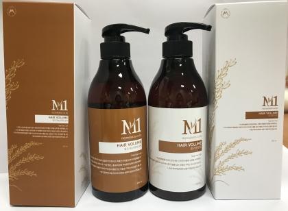M1 헤어볼륨 탈모 증상 완화 샴푸, 트리트먼트 세트/단품